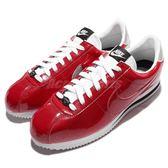 【六折特賣】Nike 復古慢跑鞋 Cortez PREM QS 紅 銀 白 亮粉漆皮 阿甘鞋 男鞋 【PUMP306】 819721-600