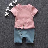 男童夏季套裝男孩兩件套嬰兒童裝寶寶短袖夏裝1一2-3-4-5歲衣服 快速出貨 全館八折