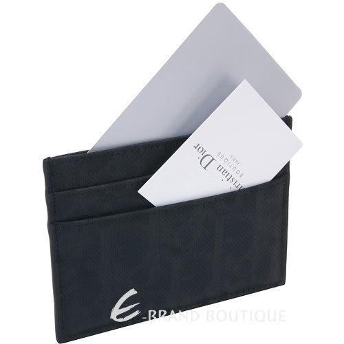 Dior Homme 迪奧 經典防水緹花萬用卡夾(黑色) 1240231-01