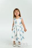 (免運)新款童裝夏季兒童女童洋裝霜淇淋印花裙歐美風童裝