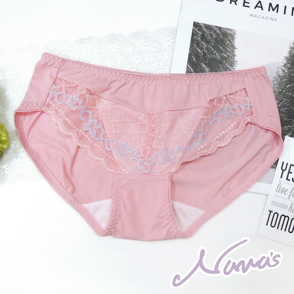 【露娜斯】羅曼花燦。M-XL蕾絲三角內褲【粉】台灣製P8889