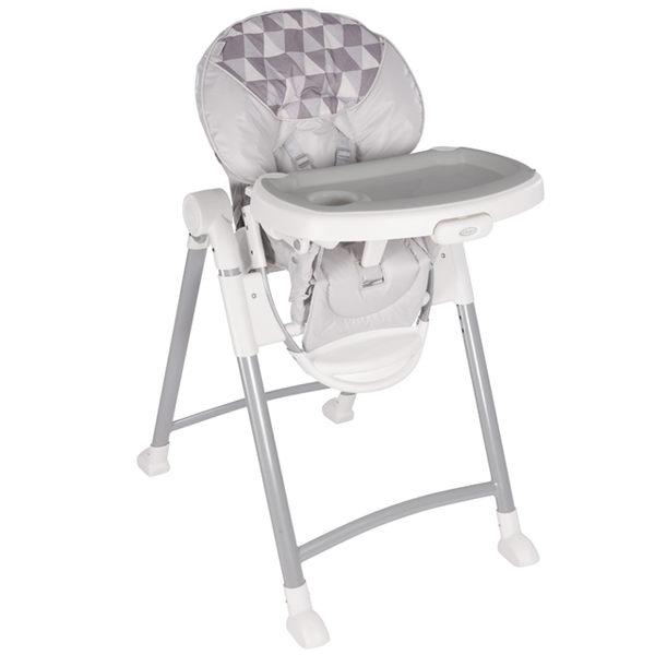 【愛吾兒】Graco 可調式高低餐椅 Contempo 菱格灰