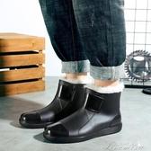 雨鞋-39-46碼休閒大碼雨鞋男士短筒防水時尚雨靴加棉加絨水靴防滑廚房 提拉米蘇 YYS