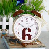 創意靜音鬧鐘時尚簡約個性床頭鐘兒童卡通學生電子時鐘xx7636【每日三C】