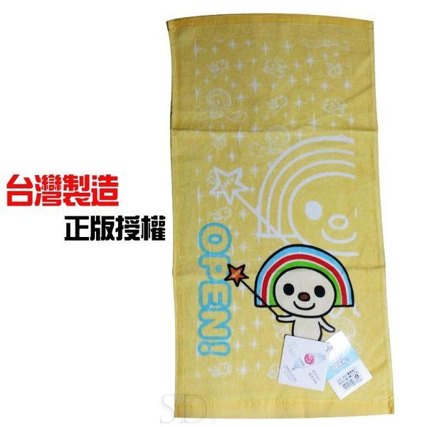 OPEN將歡樂印花絨童巾-台灣製造-正版授權