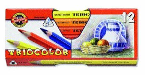 KOH-I-NOR 12色大三角鉛筆(筆徑10.5mm)*3152推薦良品