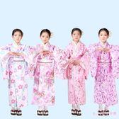 女童和服 古裝女日本傳統服裝兒童改良棉質學生舞臺演出表演服日式浴衣 DR22855【Rose中大尺碼】