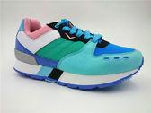 My Foot PONY 女款 YORK 系列 內增高 復古慢跑鞋 -藍x綠x粉x黑 53W1YK67BP