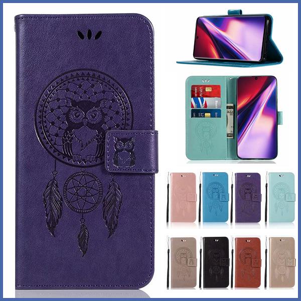 三星 Note10 Note10+ 貓頭鷹風鈴 手機皮套 插卡 支架 磁扣 可掛繩 防摔 內軟殼 壓紋皮套