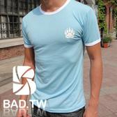 奢華壞男《 熊掌限量款 - 超舒適彈性剪裁合身T恤 (藍底滾白邊) 》【S / M / L / XL / XXL】(潮T、上衣)