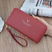 手拿包 女士錢包女長款手拿包2020新款拉鏈多功能長款大容量皮夾手機包