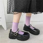lolita鞋大頭厚底增高jk小皮鞋女2020新款英倫風夏日系Lolita百搭瑪麗珍鞋 衣間迷你屋