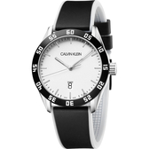Calvin Klein CK 運動風格手錶-銀x黑/42mm K9R31CD6