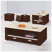 【水晶晶家具/傢俱首選】HT1685-1艾絲特胡桃色121cm石面大茶几