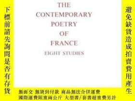 二手書博民逛書店The罕見Contemporary Poetry Of France.eight Studies.-當代詩歌法國.