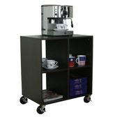 【頂堅】深40公分-四方格[活動輪]置物櫃/電器櫃/收納櫃-二色可選深胡桃木色