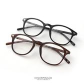 鏡框 金屬箭頭造型小圓粗膠鏡框平光眼鏡 簡單俐落設計 書卷氣息【NY299】單支