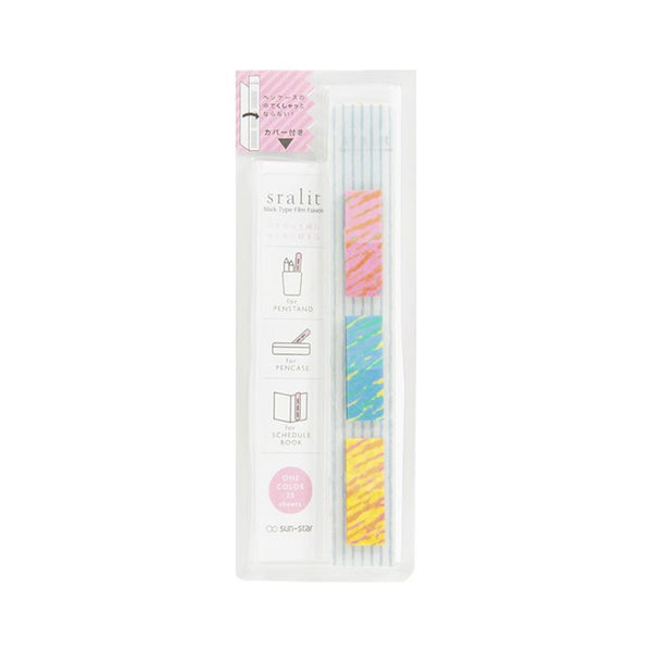 《sun-star》sralit細長型好攜帶隨身自黏標籤貼(蠟筆風)★funbox生活用品★_UA50477