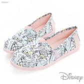 Disney 奇幻夢遊~愛麗絲插畫懶人鞋-白