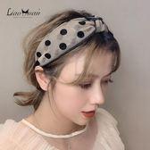 髮箍 頭箍 韓國網紅甜美寬邊髮卡髮箍女少女簡約波點頭箍清新網紗髮帶頭飾品