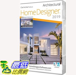 [7美國直購] 家居設計師建築 Chief Architect Home Designer Architectural 2019 PC-Mac B079M2XVQL