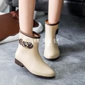 雨鞋中筒時尚女式雨靴防滑水鞋短筒膠鞋成人水靴套鞋