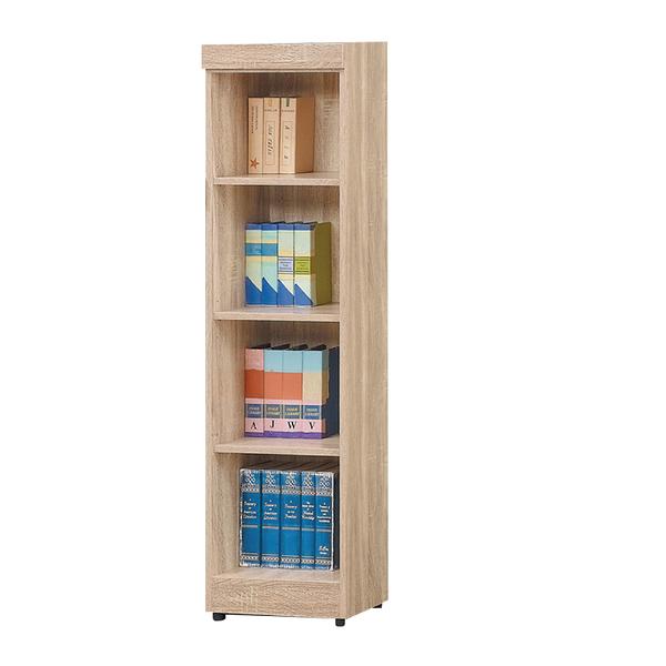 【采桔家居】米杜多 時尚1.3尺開放式四格書櫃/收納櫃