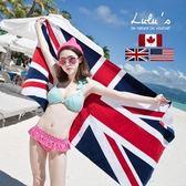 純棉英國國旗浴巾米字加大加厚全棉浴巾沙灘巾成人70x140 芭蕾朵朵