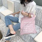 帆布袋 字母 潮 手提包 帆布包 單肩包 環保購物袋--手提/單肩【SPE113】 icoca  09/13