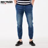 BigTrain吸排鬆緊腰針織丹寧縮口褲-男-藍色-S-XL