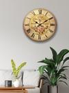 客廳時鐘 美式輕奢掛鐘現代簡約客廳時鐘創意簡美鐘表INS網紅璧鐘復古【快速出貨八折搶購】