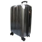 【YC Eason】維也納25吋海關鎖款PC硬殼行李箱(黑灰)