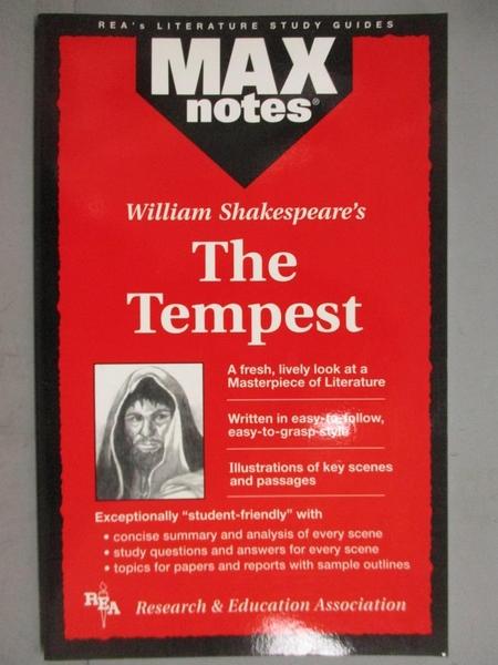 【書寶二手書T2/原文小說_GJH】Maxnotes the Tempest
