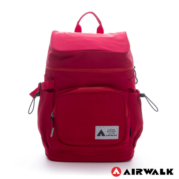 Backbager 背包族【美國 AIRWALK】火鍋蓋旅行後背包(紅)