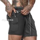 運動短褲男肌肉兄弟運動短褲男寬鬆速幹健身五分褲籃球彈力訓練跑步沙灘褲子 快速出貨