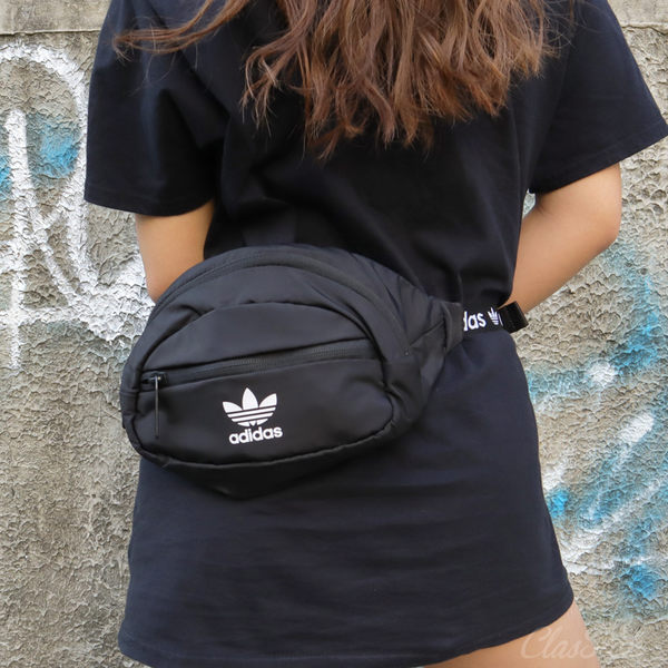 【現貨折券後1199 】adidas Originals National Waist Bag  三葉草肩腰包 黑 CK6590