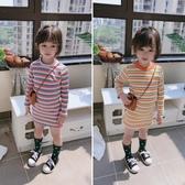 2020春秋季洋裝 中小童氣質舒適修身連身裙 女童可愛甜美條紋裙子 中秋降價