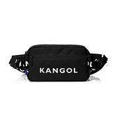 KANGOL袋鼠黑色腰包斜背包-NO.6025301220