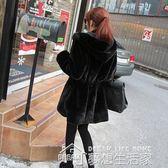 冬裝新款仿皮草絨毛毛中長款兩面穿大衣韓版修身外套女冬  夢想生活家