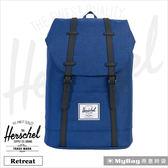 Herschel 後背包 單寧布藍 15吋休閒電腦後背包 Retreat-1335 MyBag得意時袋