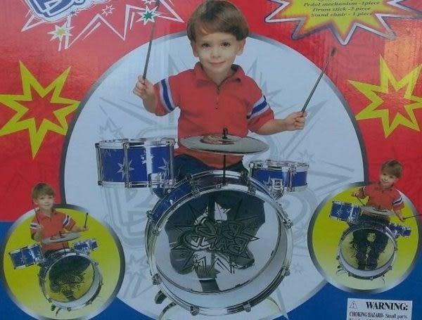 *粉粉寶貝玩具*小男生的最愛~歡樂爵士鼓組~3鼓一鑼附椅子