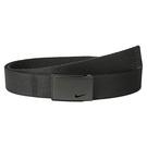Nike 金屬扣棉軟織帶皮帶(黑色)
