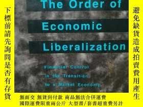 二手書博民逛書店經濟自由化的秩序:市場經濟過渡期的金融控制罕見The Order