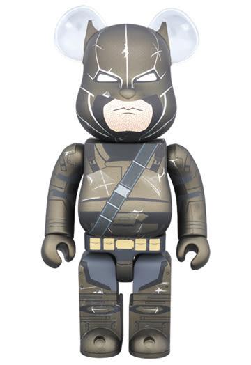 Poco+玩具部 全新 BE@RBRICK BEARBRICK 400% 蝙蝠俠VS超人 ARMORED BATMAN 裝甲蝙蝠俠
