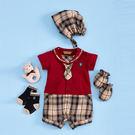 【金安德森】春夏新生兒禮盒-學院風小領帶兔裝(共二色)