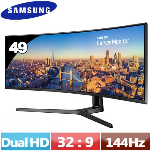 SAMSUNG三星 49型 C49J890DKE 超寬曲面液晶螢幕