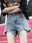 泫雅同款牛仔短褲女2019寬鬆高腰顯瘦薄款超火cec闊腿a字熱褲外穿