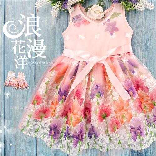 花語夢幻網紗洋裝