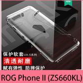 【萌萌噠】ASUS ROG Phone II (ZS660KL) 還原真機 imak 裸機視覺 清透耐磨透明軟殼 全包防摔手機殼