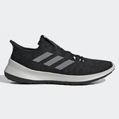 Adidas SENSEBOUNCE+ 男鞋 慢跑 襪套 避震 針織 透氣 輕量 黑 灰【運動世界】 G27364